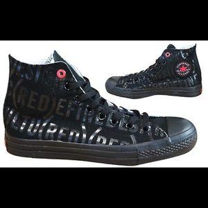 Converse All Star's RED Series Black Chucks 7